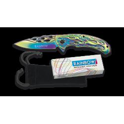 Нож 18288-A Rainbow Flames Albainox