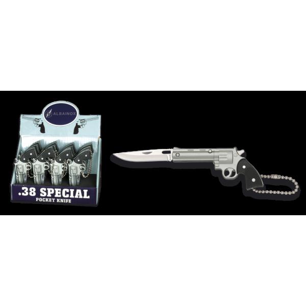 Нож ключодържател Револвер 19487 silver Albainox